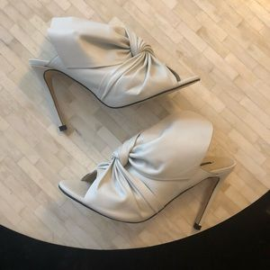 Zara White Open Toe Slingback Heel